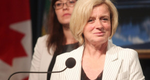 Colleen De Neve/ Calgary Herald CALGARY, AB -- MAY 28, 2015 --Premier Rachel Notley, left, was joined by Minister of Justice and Aboriginal Affairs Kathleen Ganley and Education Minister David Eggen, not pictured, as she made announcements regarding funding for school boards and the stoppage of the closure of the Calgary Young Offenders Centre on May 28, 2015. (Colleen De Neve/Calgary Herald) (For City story by James Wood) 00065684A SLUG: 0529-NDP